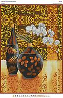 БА2-39 Орхидеи. Вишиванка. Схема на ткани для вышивания бисером