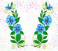 K-278 Блакитні квіти. Confetti. Водорастворимый флизелин с рисунком