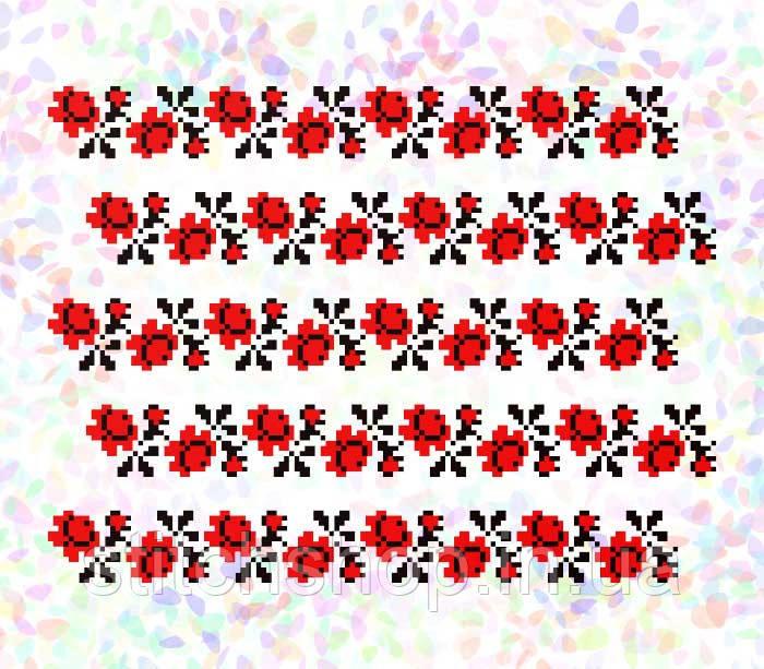 K-285 Розы. Confetti. Водорастворимый флизелин с рисунком
