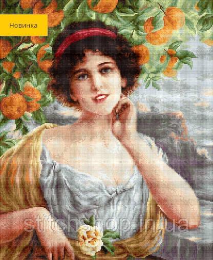 B546 Красавица под апельсиновым деревом. Luca-S. Набор для вышивания нитками