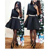 Женское модное неопреновое платье (3 цвета), фото 1