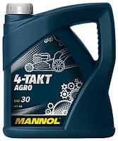 Масло для четырехтактных двигателей садовой техники 4-TAKT AGRO SAE 30 4л.