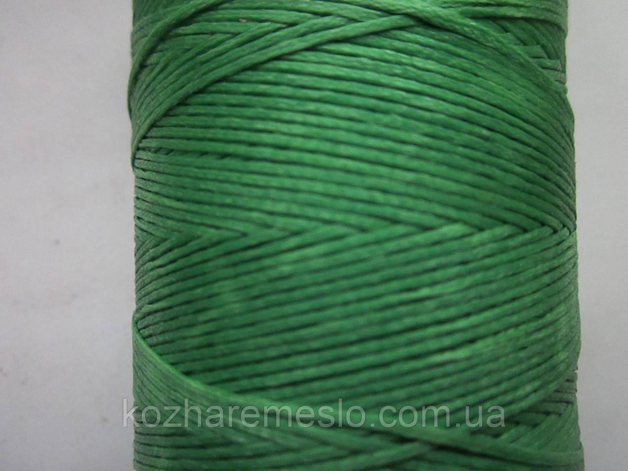 Нить вощёная плоская 0,8 мм светло - зелёная