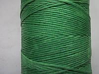 Нить вощёная плоская 1.2 мм светло - зелёная .