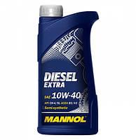 Моторное масло MANNOL DIESEL EXTRA 10W-40 API CH-4/SL  1л