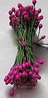 Тычинки для цветов малиновые глянцевые