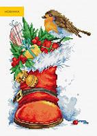 B2310 Рождественский сапожок. Luca-S. Набор для вышивания нитками