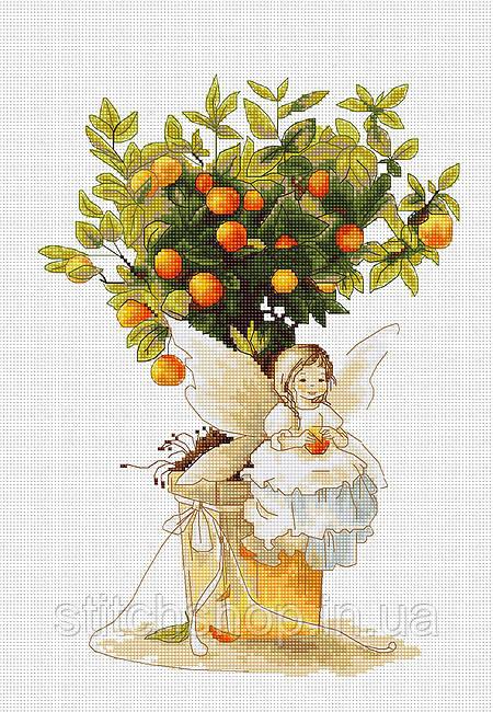 B1112 Мандаринка. Luca-S. Набор для вышивания нитками