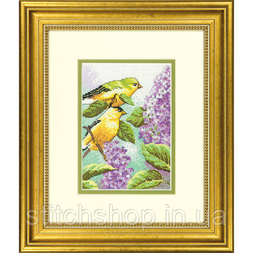 "70-65153 ""Птицы и сирень//Goldfinch and Lilacs"" DIMENSIONS."