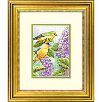 "70-65153 ""Птицы и сирень//Goldfinch and Lilacs"" DIMENSIONS."