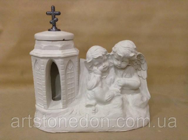 Подсвечники. Скульптура Ангелочки с подсвечником №1