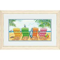 "70-35325 ""Пляжный кресла//Beach Chairs"" . DIMENSIONS. Набор для вышивания нитками"