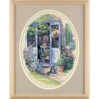 """35124 """"Садовая дверь//Garden Door""""  . DIMENSIONS. Набор для вышивания нитками"""
