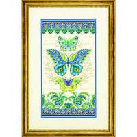 "70-35323 ""Бабочки павлин//Peacock Butterflies"". DIMENSIONS. Набор для вышивания нитками"