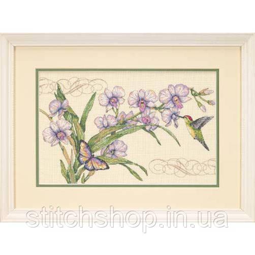 "35237 ""Орхидеи и колибри//Orchids & Hummingbird""      . DIMENSIONS. Набор для вышивания нитками"