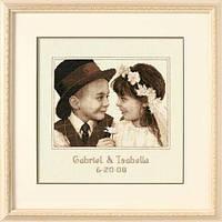 """35192 """"Первая любовь//First Love Wedding Record""""       . DIMENSIONS. Набор для вышивания нитками"""