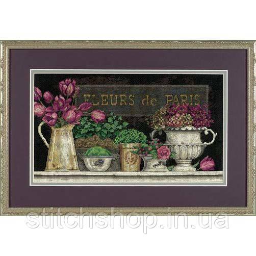 """35093 """"Цветы Парижа//Fleurs de Paris""""       . DIMENSIONS. Набор для вышивания нитками"""