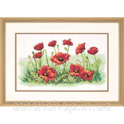 """3237 """"Поле маков//Field of Poppies"""". DIMENSIONS. Набор для вышивания нитками"""