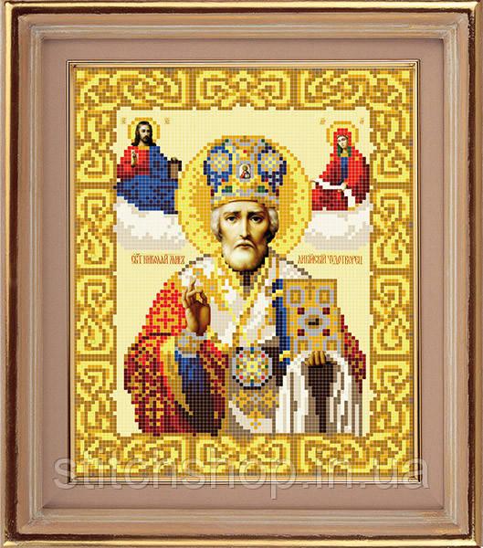 АР 1017 Св. Николай Мирликийский. BUTiK. Схема на ткани для вышивания бисером