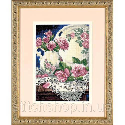"6929 ""Кружева и розы//Lace and Roses"". DIMENSIONS. Набор для вышивания нитками"