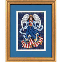 """6911 """"Патриотический ангел//Patriotic Angel"""". DIMENSIONS. Набор для вышивания нитками"""