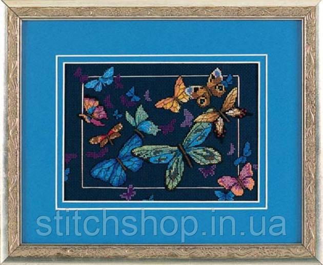 """6846 """"Экзотические бабочки//Exotic Butterflies"""". DIMENSIONS. Набор для вышивания нитками"""