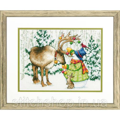"""70-08947 """"Северный олень//Ornamental Reindeer"""". DIMENSIONS. Набор для вышивания нитками"""
