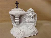 Скульптура Ангелочка с подсвечником №2
