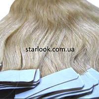 Натуральные волосы для ленточного наращивания 60 см. Оттенок №16.