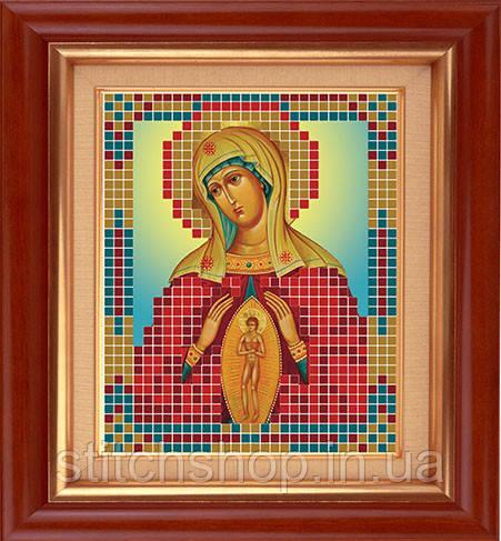 """АР 7007 Богородица """"Помощ в родах"""". BUTiK. Схема на ткани для вышивания бисером"""
