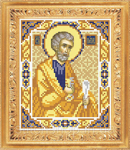 АР 2026 Св. Апостол Петр. BUTiK. Схема на ткани для вышивания бисером