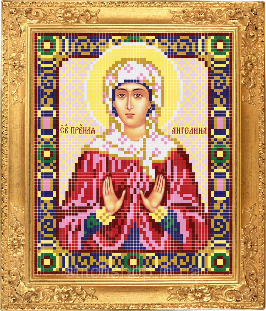 АР 2036 Святая Ангелина Сербская. BUTiK. Схема на ткани для вышивания бисером