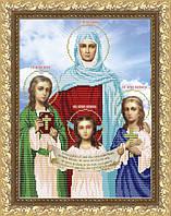 VIA3001 Вера, Надежда, Любовь и мать их София. ArtSolo. Схема на ткани для вышивания бисером