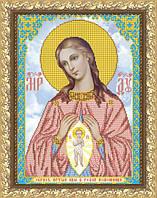 VIA3003 Богородица Помощница в родах. ArtSolo. Схема на ткани для вышивания бисером