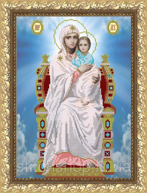 VIA3005 Богородица на Престоле. ArtSolo. Схема на ткани для вышивания бисером