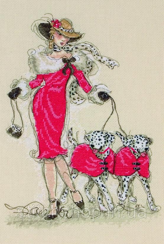 5678000-01143 Dancing Dalmatians (Танцующие далматинцы). Anchor Maia Collection. Набор для вышивания нитками