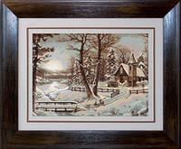 G321 Зимний пейзаж. Luca-S. Набор для вышивания нитками