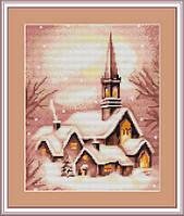 G401 Заснеженная церковь. Luca-S. Набор для вышивания нитками