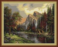 G408 Пикник в горах. Luca-S. Набор для вышивания нитками