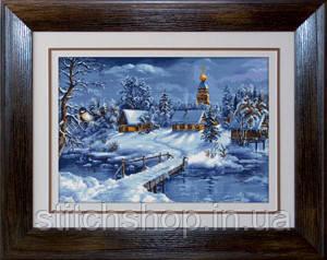 G447 Зимний пейзаж. Luca-S. Набор для вышивания нитками