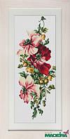 BM3001 Композиция с цветами. Luca-S. Набор для вышивания нитками