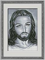 30091 Иисус. Dream Art. Набор для рисования камнями(квадратные, полная)(Z3700). Рисование квадратными камнями на холсте