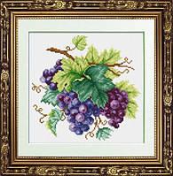30045 Гроздь винограда. Dream Art. Набор алмазной живописи (квадратные, полная). Рисование квадратными камнями на холсте