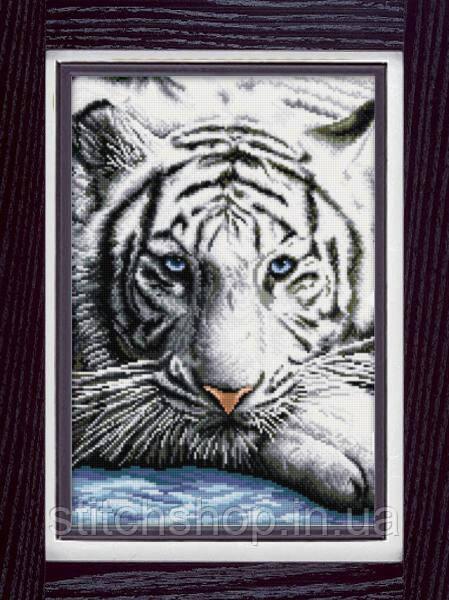 30050 Бенгальский тигр. Dream Art. Набор алмазной живописи (квадратные, полная). Рисование квадратными камнями на холсте