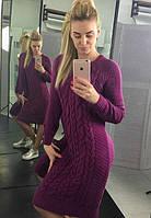 Платье женское вязаное теплое на каждый день
