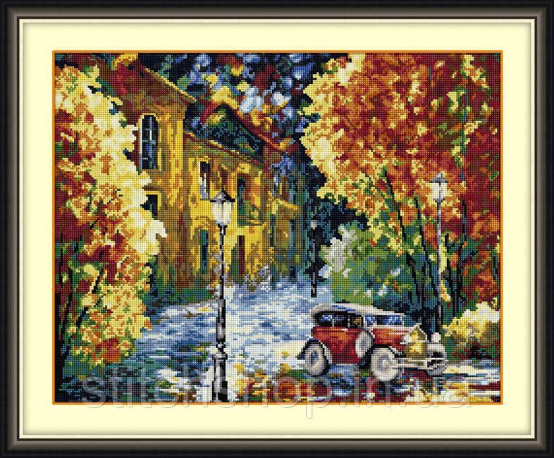 30106 Осенний марафон. Dream Art. Набор алмазной живописи (квадратные, полная) (F4646). Рисование квадратными камнями на холсте