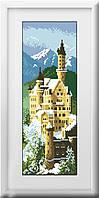 30128 Замок Нойшванштайн. Dream Art. Набор алмазной живописи (квадратные, полная) F0802 (1420). Рисование квадратными камнями на холсте