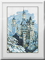 30129 Зимний замок. Dream Art. Набор алмазной живописи (квадратные, полная). Рисование квадратными камнями на холсте