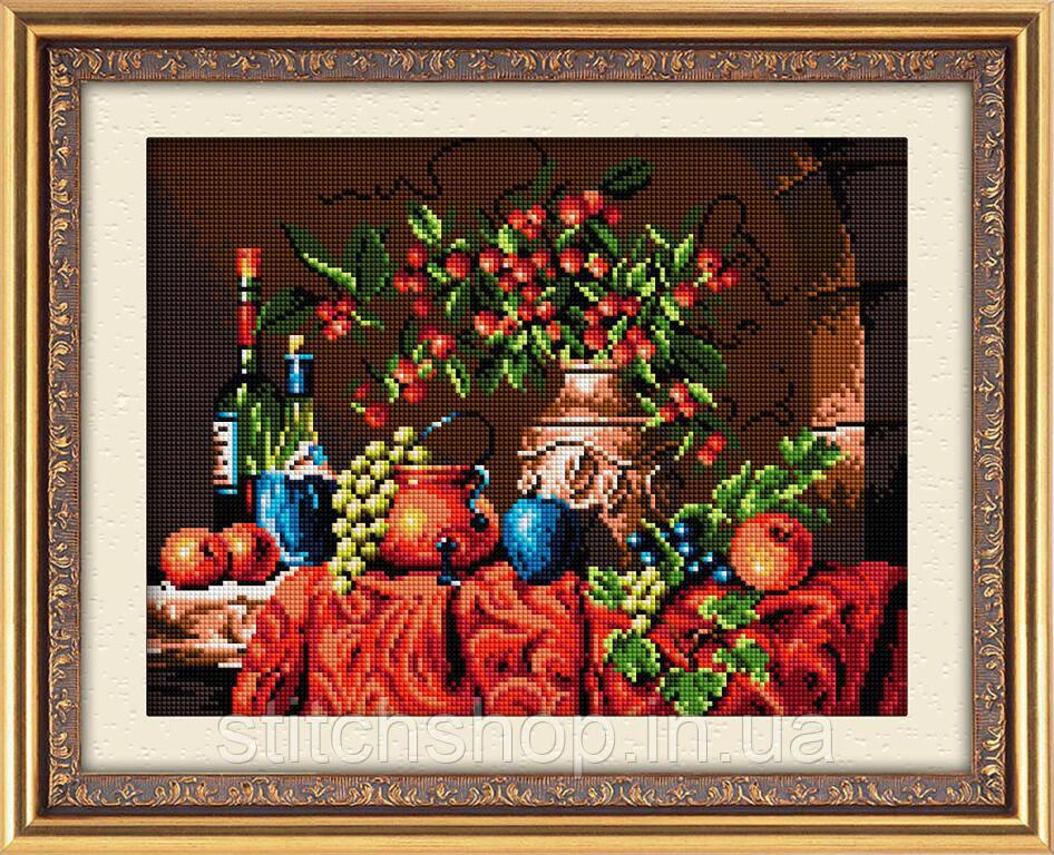30179 Осенний натюрморт. Dream Art. Набор алмазной живописи (квадратные, полная) (J3715). Рисование квадратными камнями на холсте