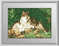30181 Лесные хищники. Dream Art. Набор алмазной живописи (квадратные, полная) (D4414). Рисование квадратными камнями на холсте